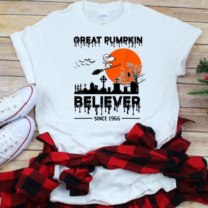 Nice Snoopy Great Pumpkin Believer Since 1966 Halloween shirt