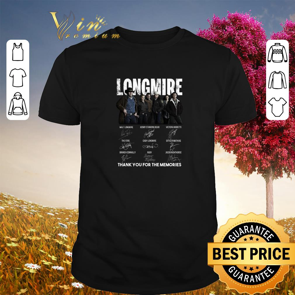 Official Longmire signatures thank you for the memories-Recovered shirt
