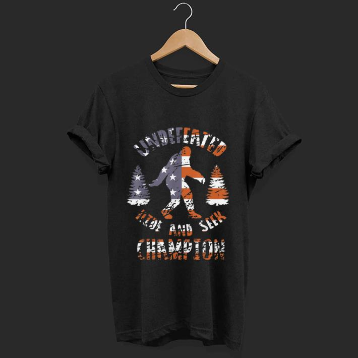 Official Undefeated Hide And Seek Champion Bigfoot America Flag shirt