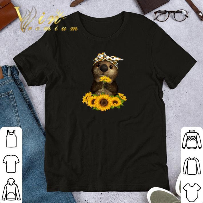 Premium Otter sunflowers shirt