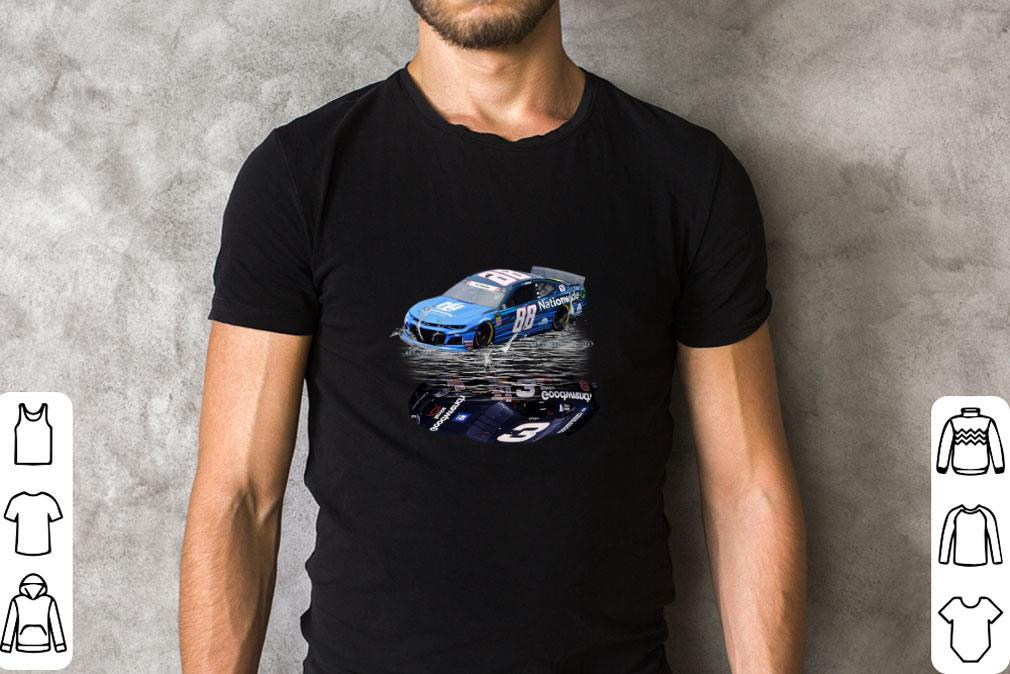 Pretty Dale Earnhardt Jr. car water mirror reflection shadow shirt