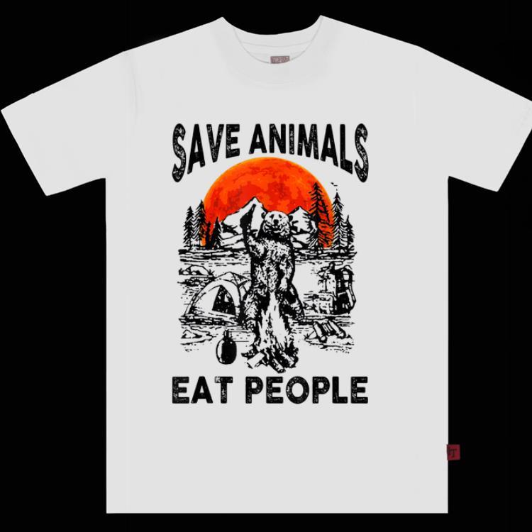 Awesome Bear Camping Save Animals Eat People Sunset shirt