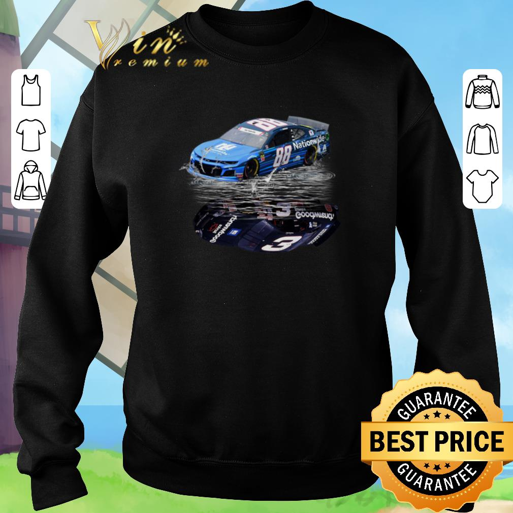 Awesome Dale Earnhardt Jr. car water mirror reflection shadow shirt