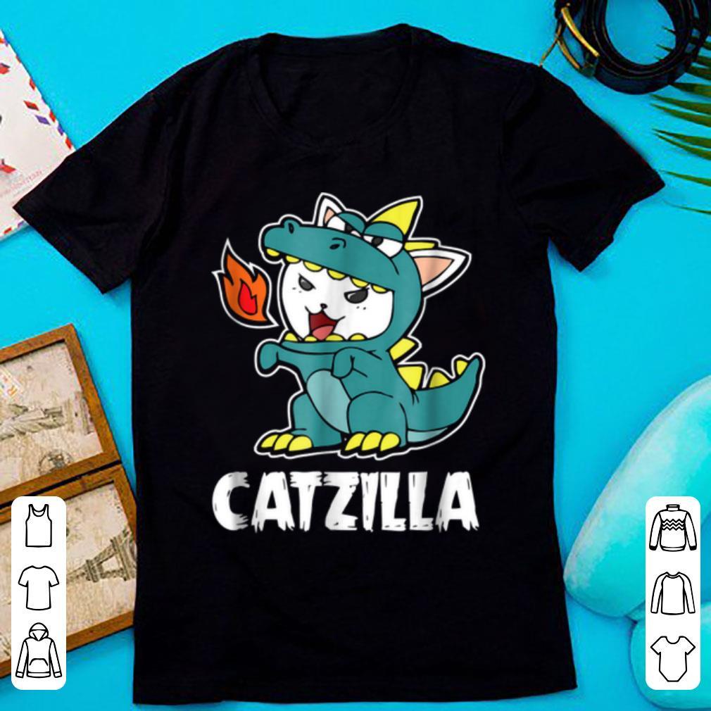 Hot Catzilla Kitten Dragon Cat Halloween Costume shirt