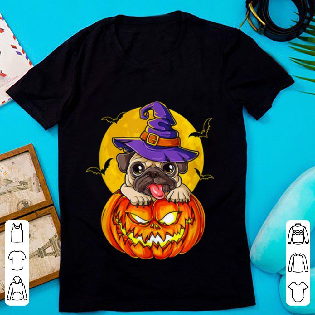 Hot Pugkin Pumpkin Halloween Pug Dog For Men shirt