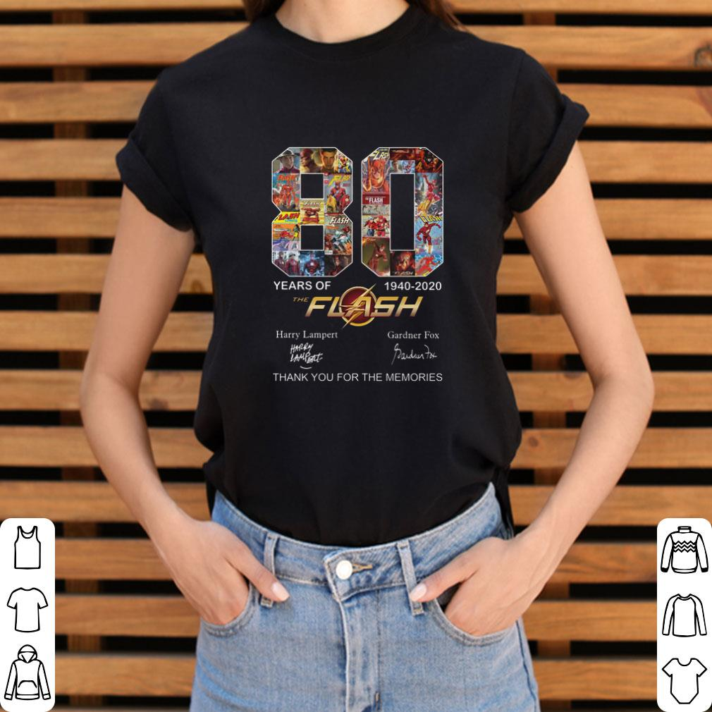Nice 80 years of The Flash 1940-2020 thank you for the memories shirt