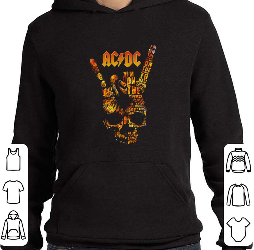 Nice ACDC Rock Band I'm on the highway to hell shirt