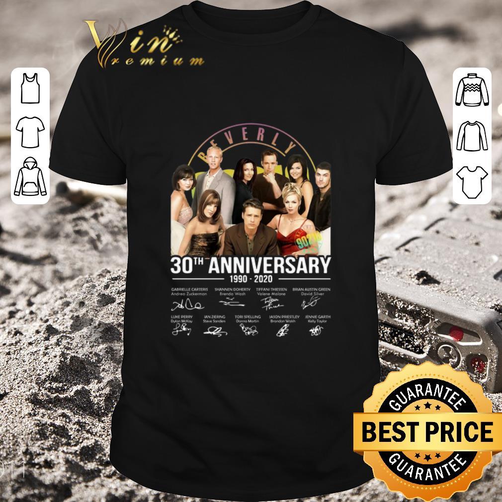 Original Beverly Hills 90210 30th anniversary 1990-2020 signatures shirt