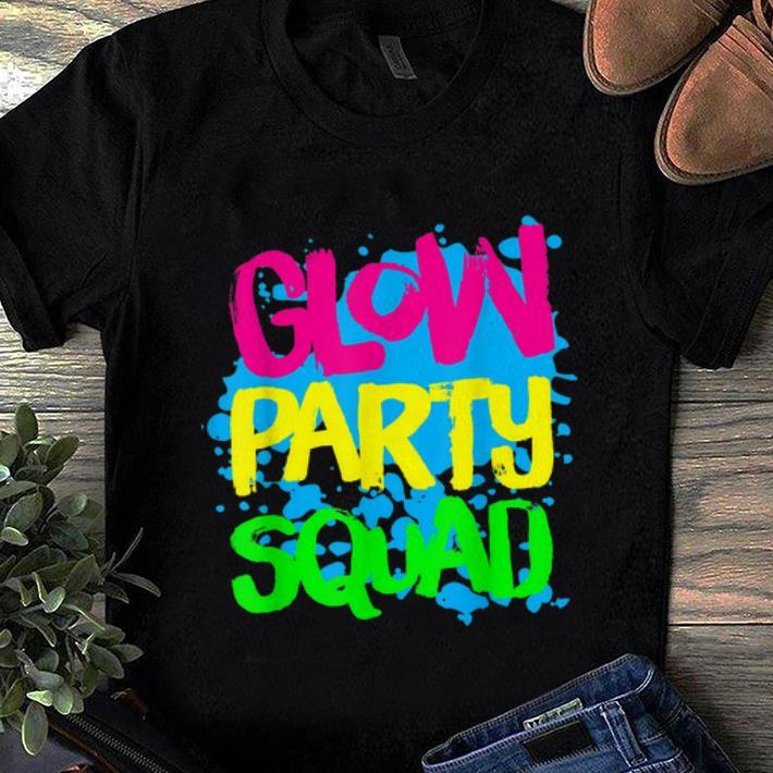 Premium Glow Party Squad Paint Splatter Effect Glow Party shirt