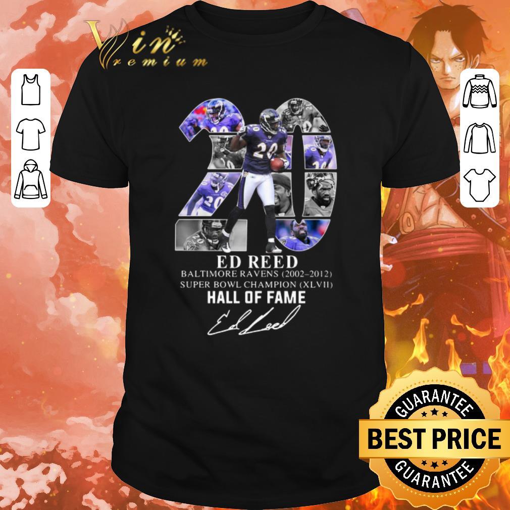 Top 20 Ed Reed Baltimore Ravens 2002-2012 Super Bowl Champion shirt