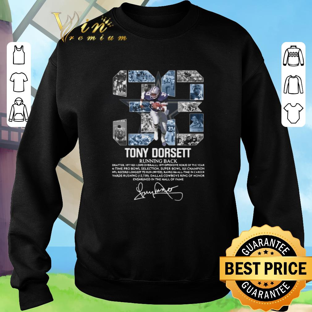 Top 33 Tony Dorsett Running back signature shirt