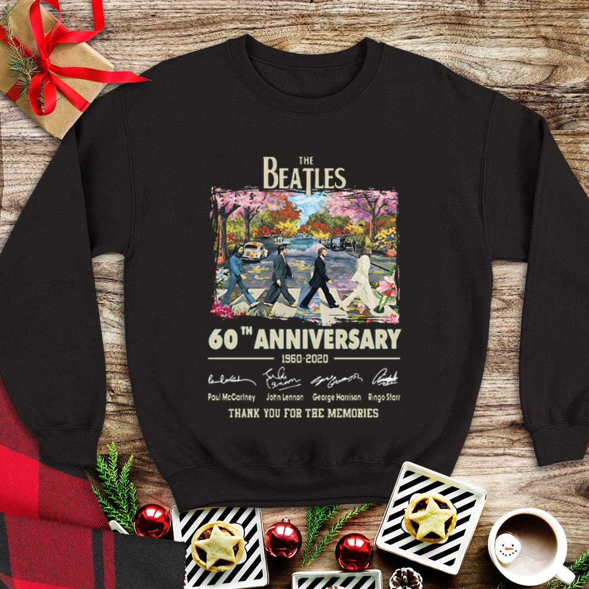 Awesome 60th Anniversary The Beatles 1960 2020 Thank You For The Memories Signatures Shirt 1 1.jpg