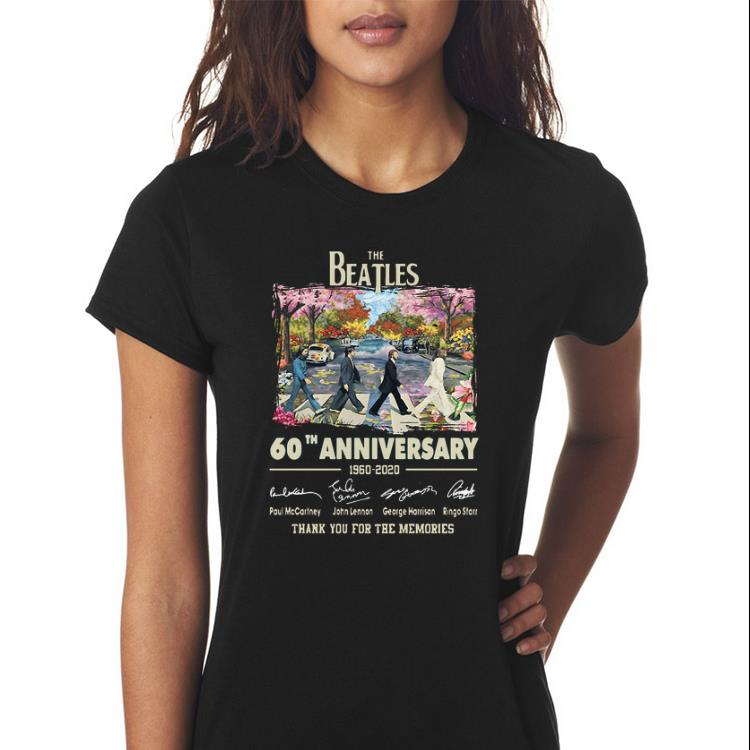 Awesome 60th Anniversary The Beatles 1960 2020 Thank You For The Memories Signatures Shirt 3 1.jpg