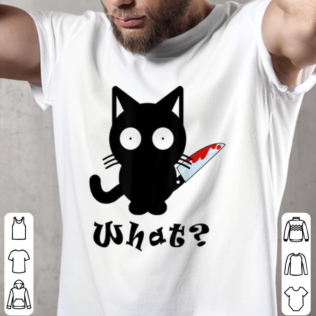 Awesome Black Cat What Murderous Cat Bloody Knife Halloween Shirt 2 1.jpg