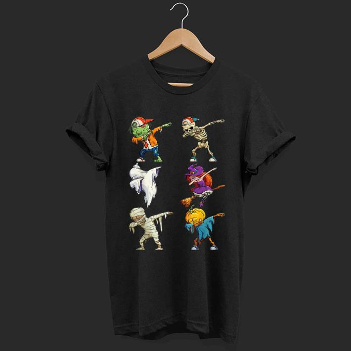 Awesome Dabbing Halloween Costume Zombie Boo Witch Skeleton Shirt 1 1.jpg