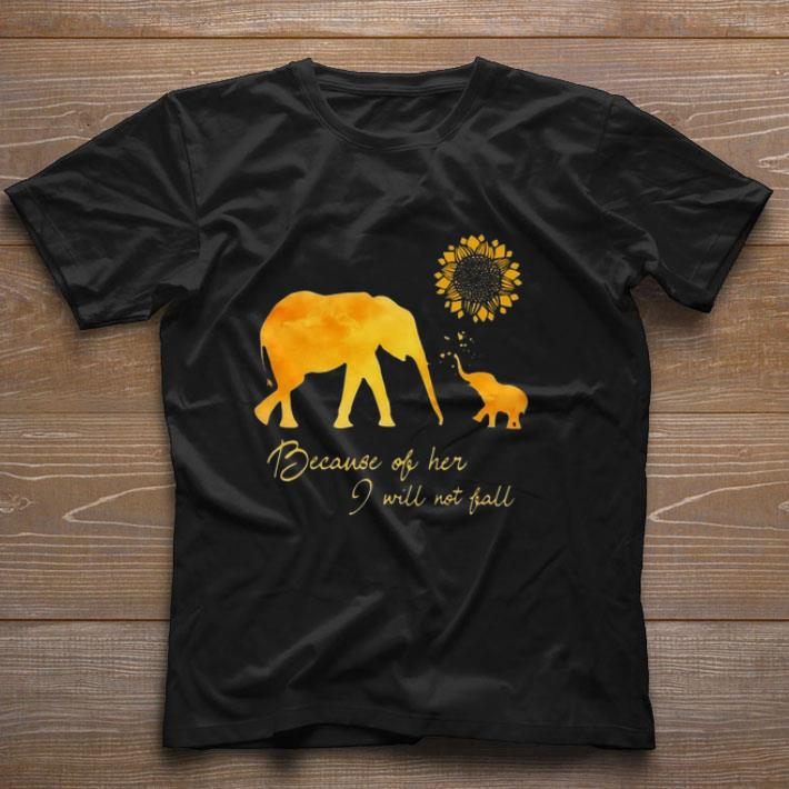 Awesome Elephant Flower Because Of Her I Will Not Fall Shirt 1 1.jpg