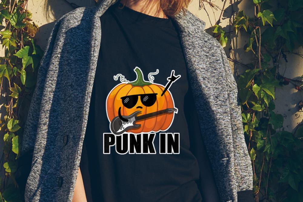 Awesome Halloween Pumpkin Punk Rock Emoji Party Shirt 2 1.jpg