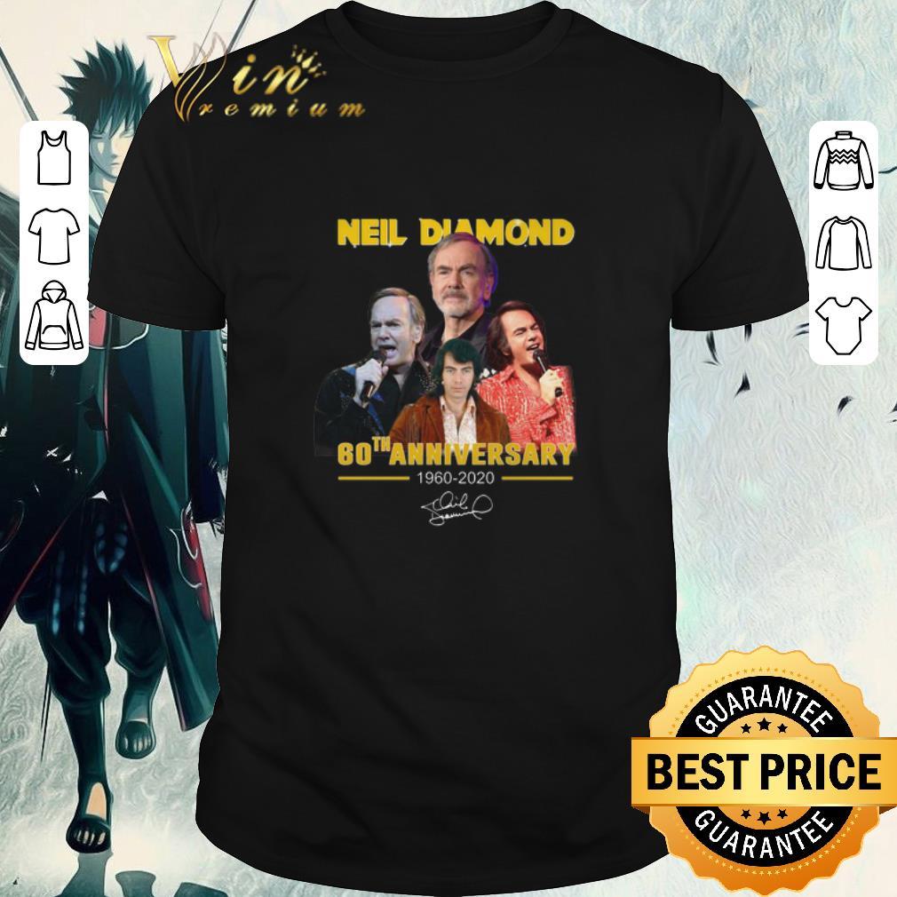 Awesome Neil Diamond 60th Anniversary 1960 2020 Signature Shirt 1 1.jpg