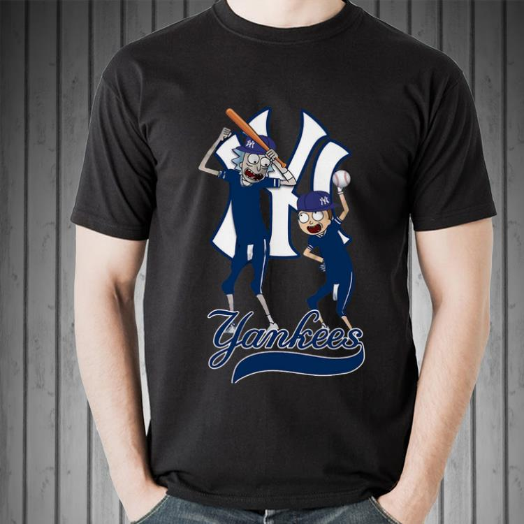 Awesome New York Yankees Rick And Morty Shirt 2 1.jpg