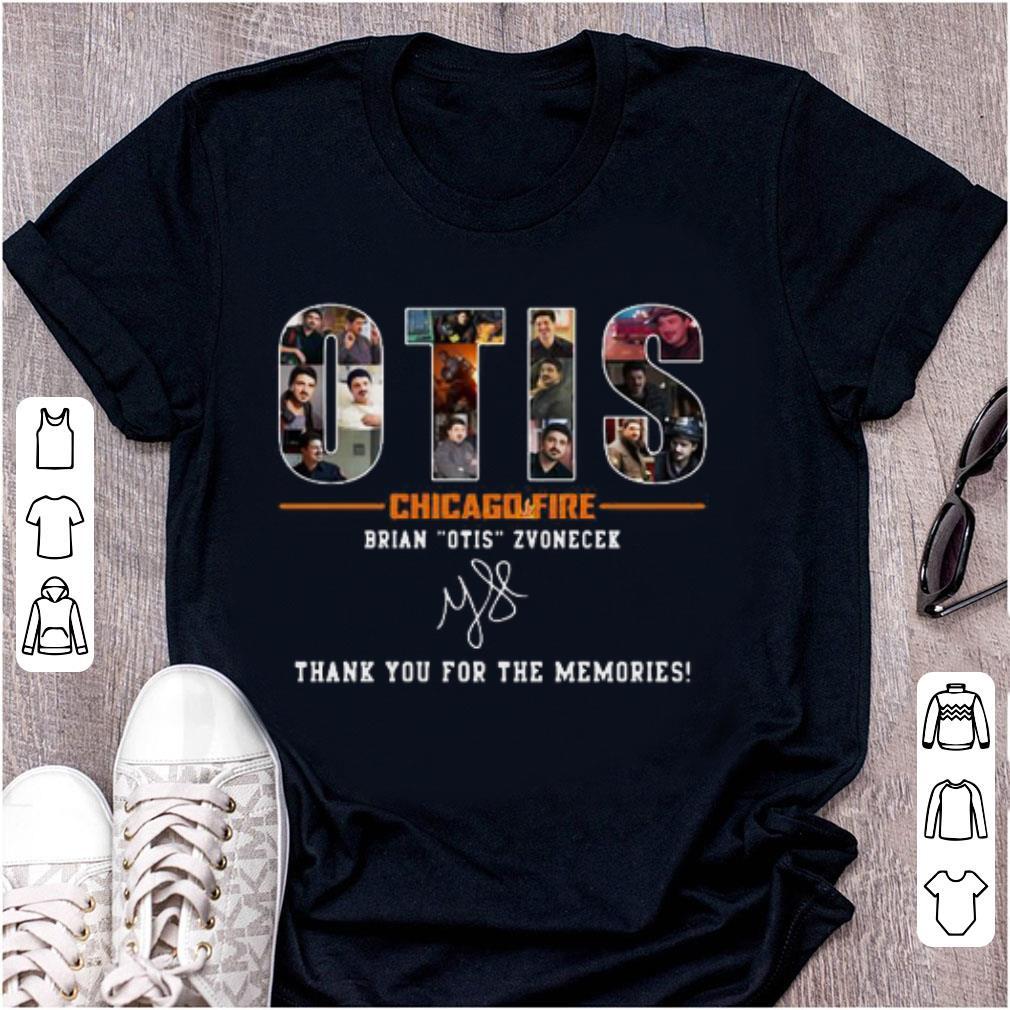 Awesome Otis Chicago Fire Brian Otis Zvonecek Thank You For The Memories Signature Shirt 1 1.jpg