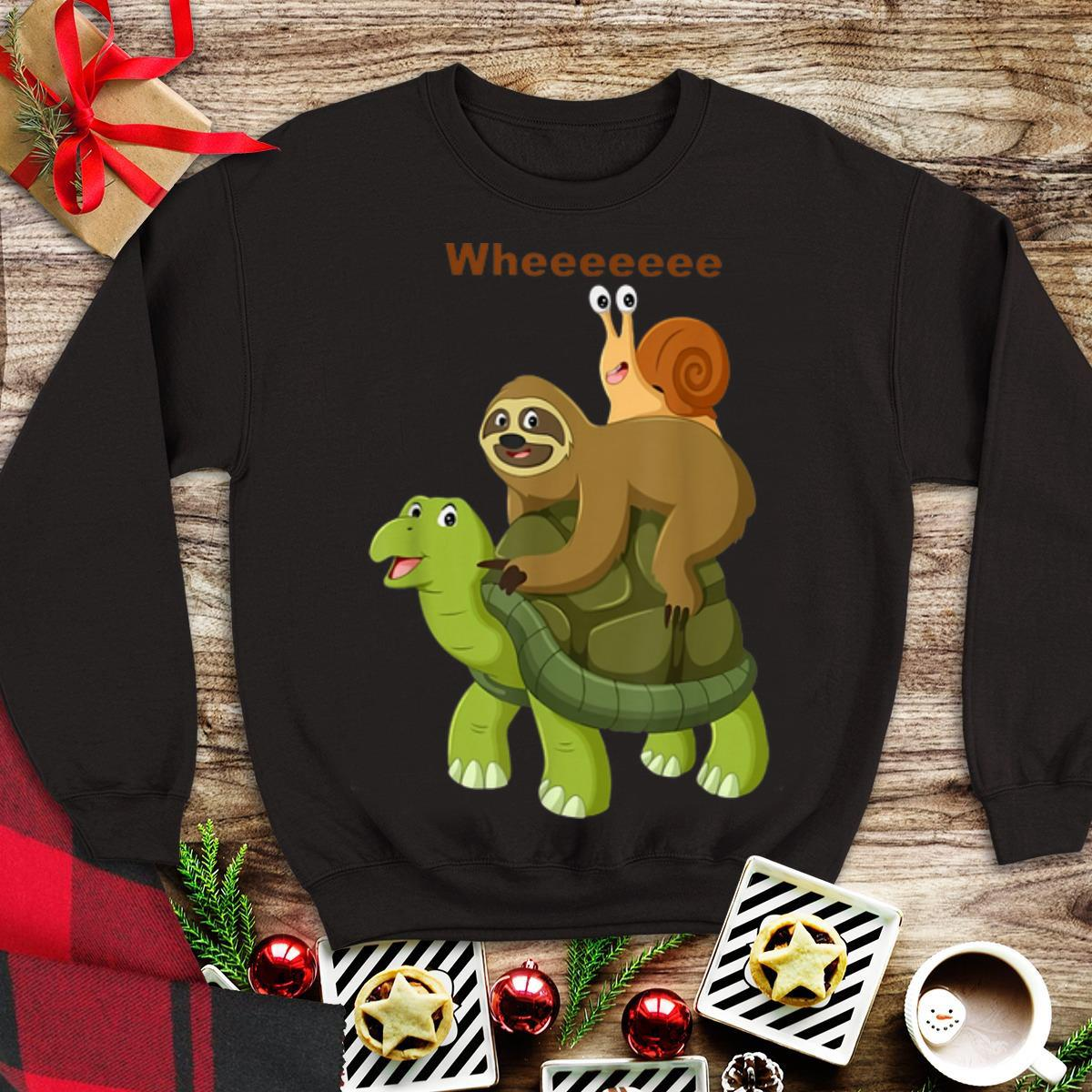 Awesome Turtle Sloth Snail Best Friend Wheee shirt