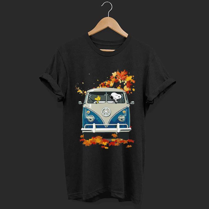 Funny Snoopy And Woodstock Vw Volkswagen Hippie Car Shirt 1 1.jpg