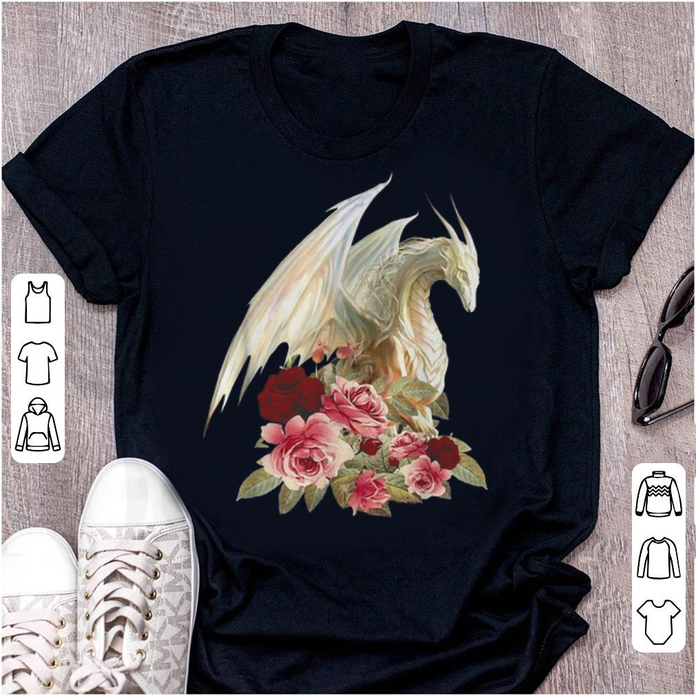 Nice White Dragon Floral Flower Shirt 1 1.jpg