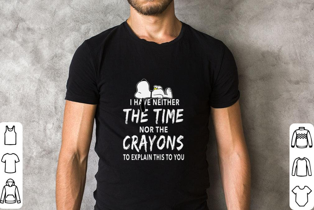 Official Snoopy i have neither the time nor the crayons shirt