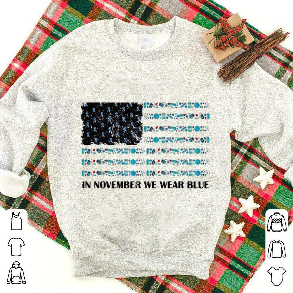 Original In November We Wear Blue Diabetes Awareness American Flag Shirt 1 1.jpg