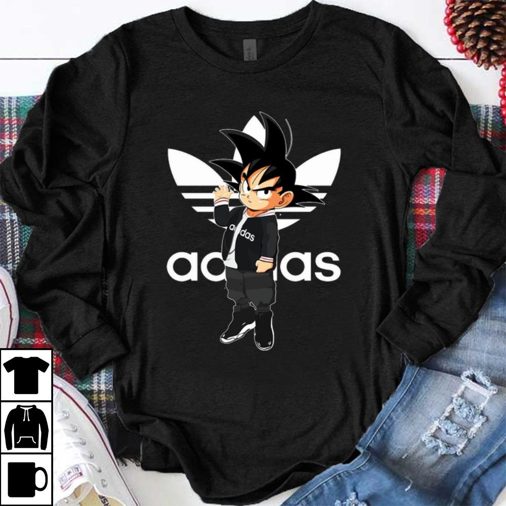 buying new separation shoes lowest price Premium Adidas Saiyan Youth Son Goku Dragon Balls shirt ...