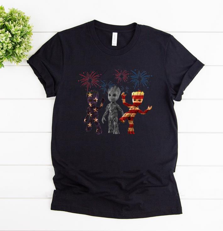 Awesome 3 Baby Groot American Flag Firework Shirt 1 2 1.jpg