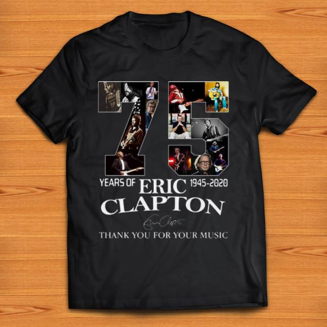 Awesome 75 Years Of Eric Clapton Signature Thank You For Your Music Shirt 1 1.jpg