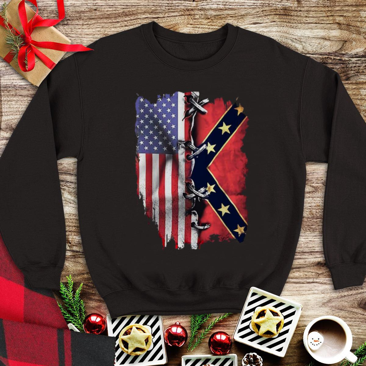 Awesome American Flag And Confederate Flag Shirt 1 1.jpg