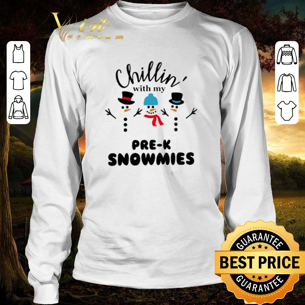 Awesome Snowman Chillin With My Pre K Snowmies Shirt 3 1.jpg