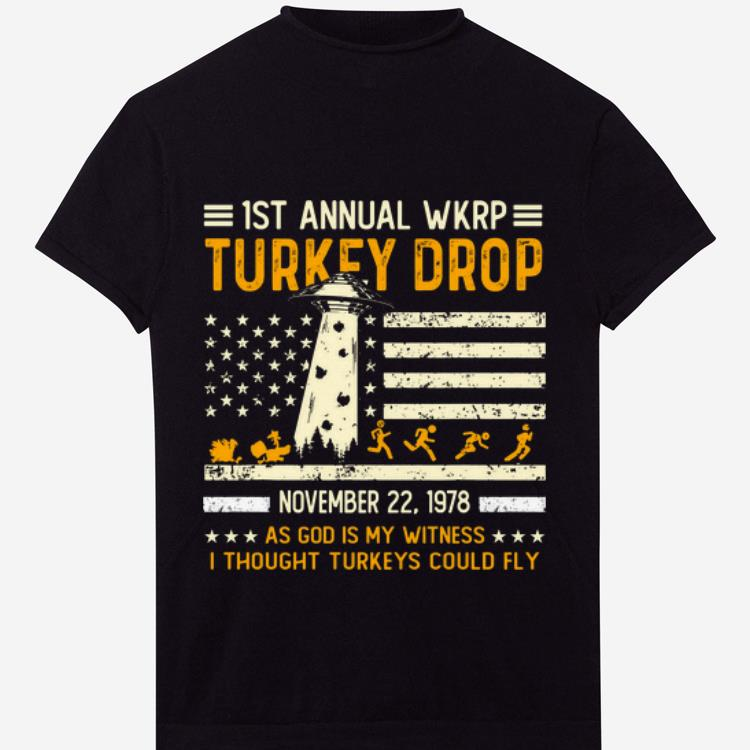 Awesome Wkrp Turkey Drop Vintage Thanksgiving Day Shirt 1 1.jpg