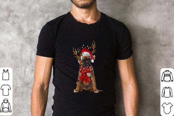 Boxer Reindeer Christmas shirt
