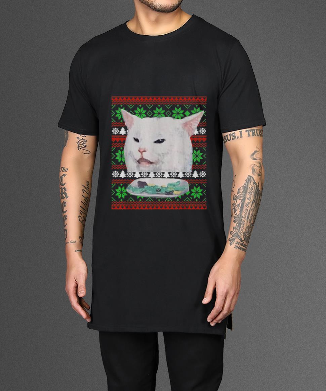 Nice Cat Woman Yelling At Cat Ugly Christmas Shirt 2 1.jpg
