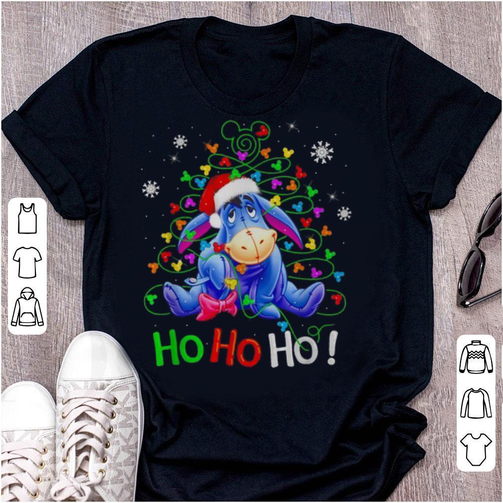 Nice Eeyore Winnie The Pooh Eeyore Ho Ho Ho Christmas Shirt 1 1.jpg