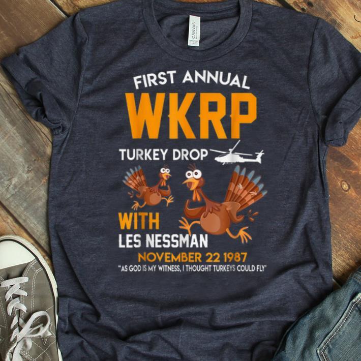 Original Wkrp Turkey Drop Thanksgiving Les Nessman Shirt 1 1.jpg
