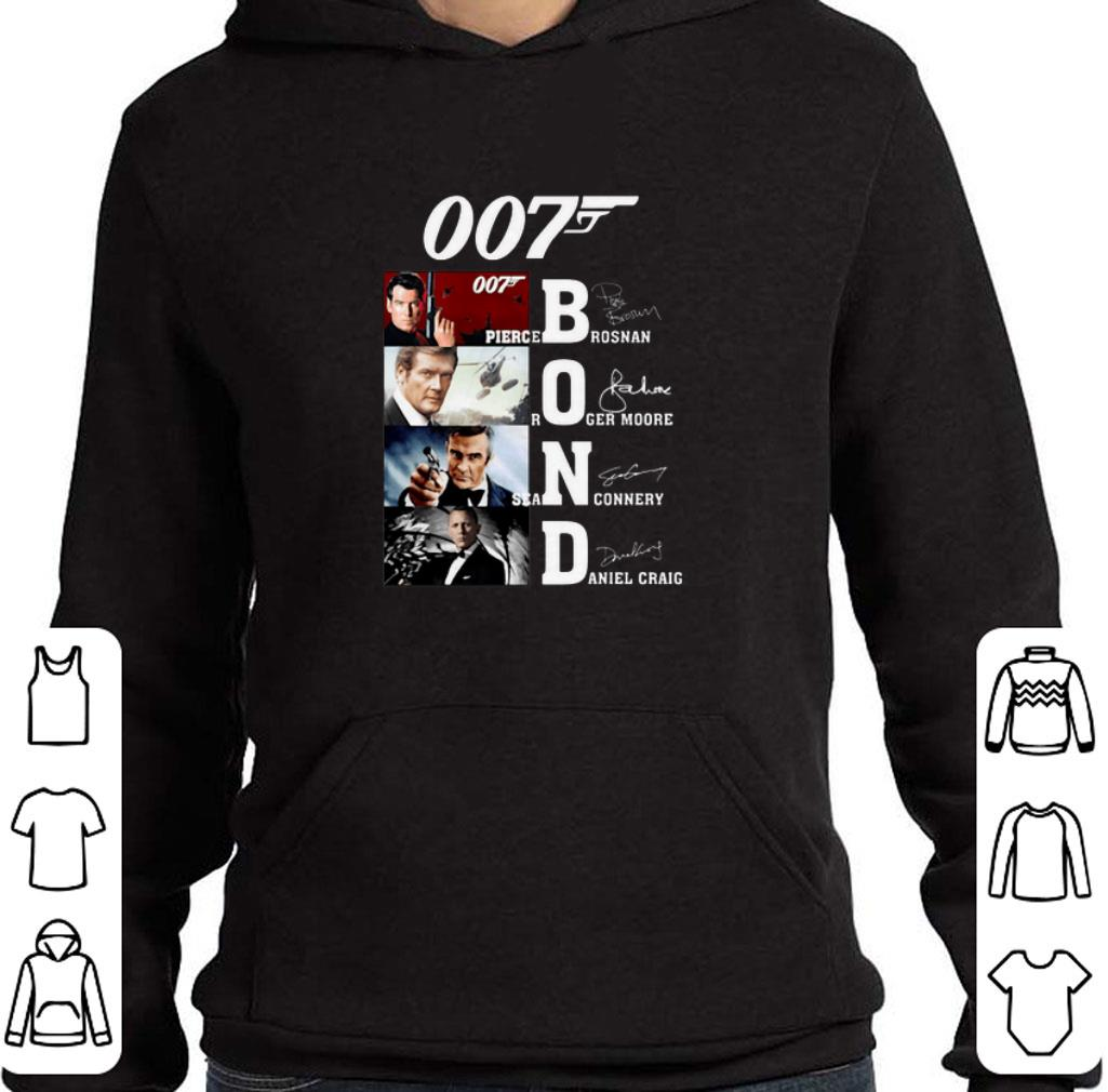 007 James Bond Pierce Brosnan Roger Moore Signatures shirt
