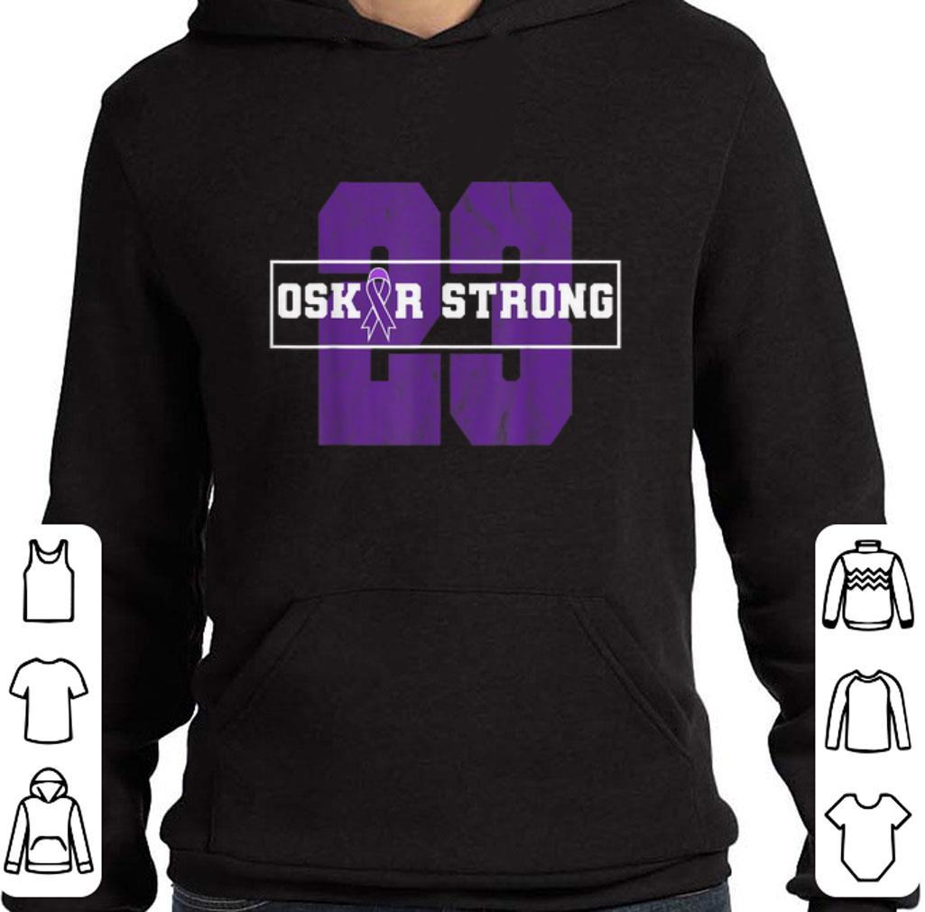 23 Purple Ribbon Oskar Strong Fight Against Cancer shirt