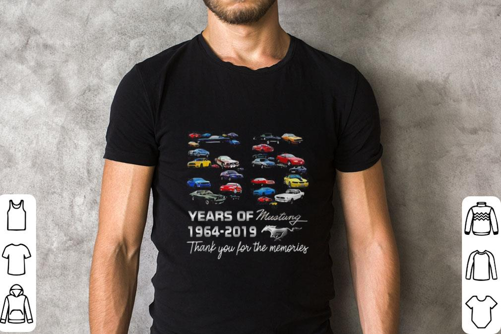 55 Years Of Mustang 1964 2019 Thank You For The Memories Shirt 2 1.jpg