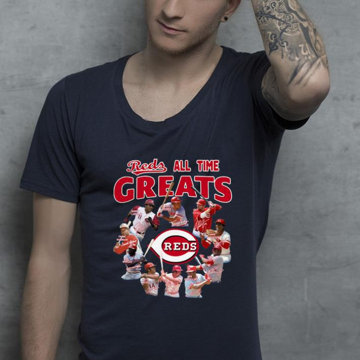 Awesome Cincinnati Reds All-time Greats Players Signatures shirt