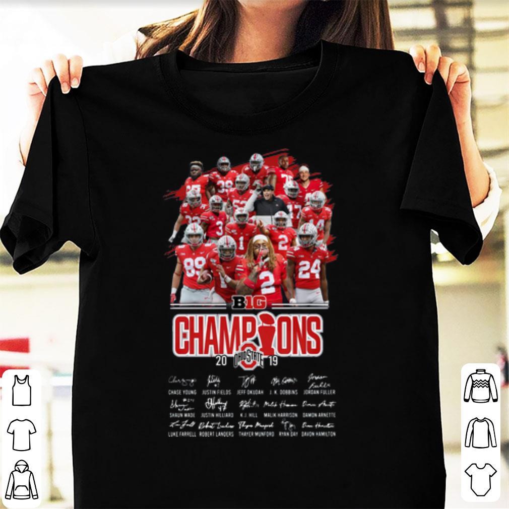 Awesome Ohio State Buckeyes Players Big Champions 2019 Signatures Shirt 1 1.jpg