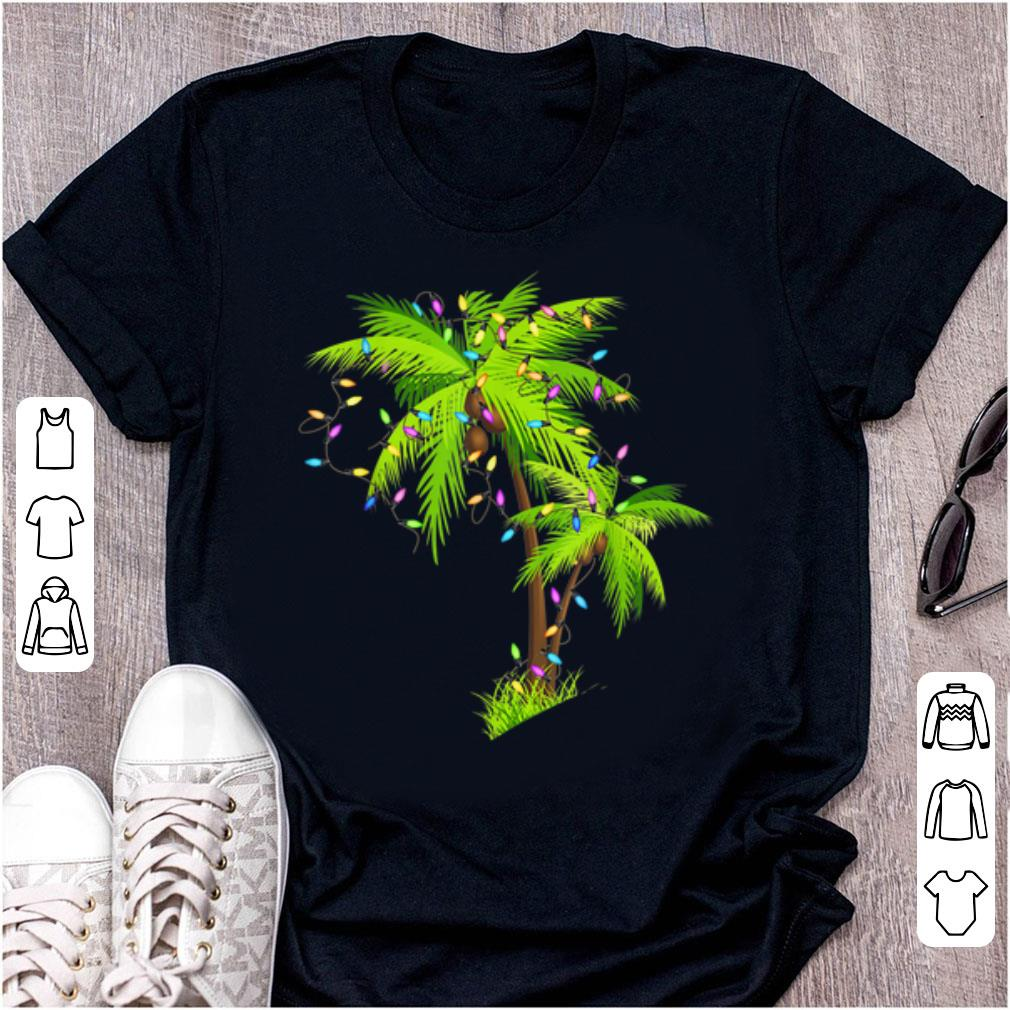 Great Palm Tree Beach Funny Tropical Xmas Gift Christmas Lights Sweater
