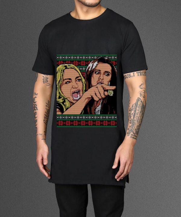 Great Woman Yelling At A Cat Meme Ugly Christmas Shirt 2 1.jpg