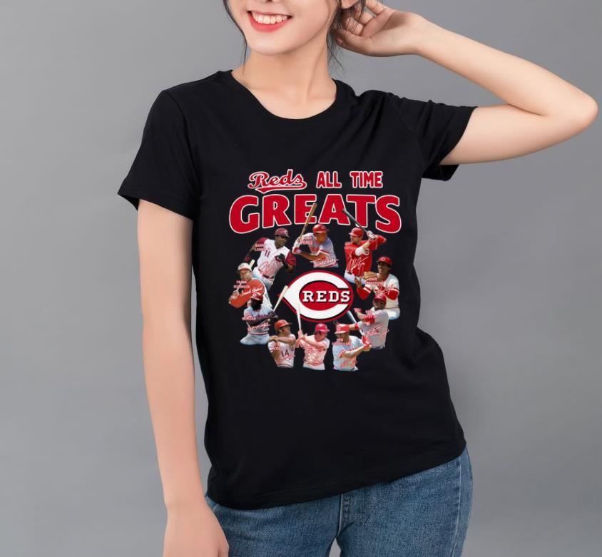 Hot Reds All-time Greats Cincinnati Reds Players Signatures shirt