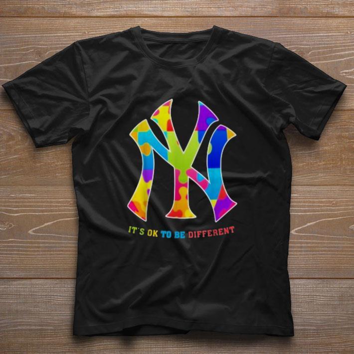 Premium Autism New York Yankees It S Ok To Be Different Shirt 1 1.jpg