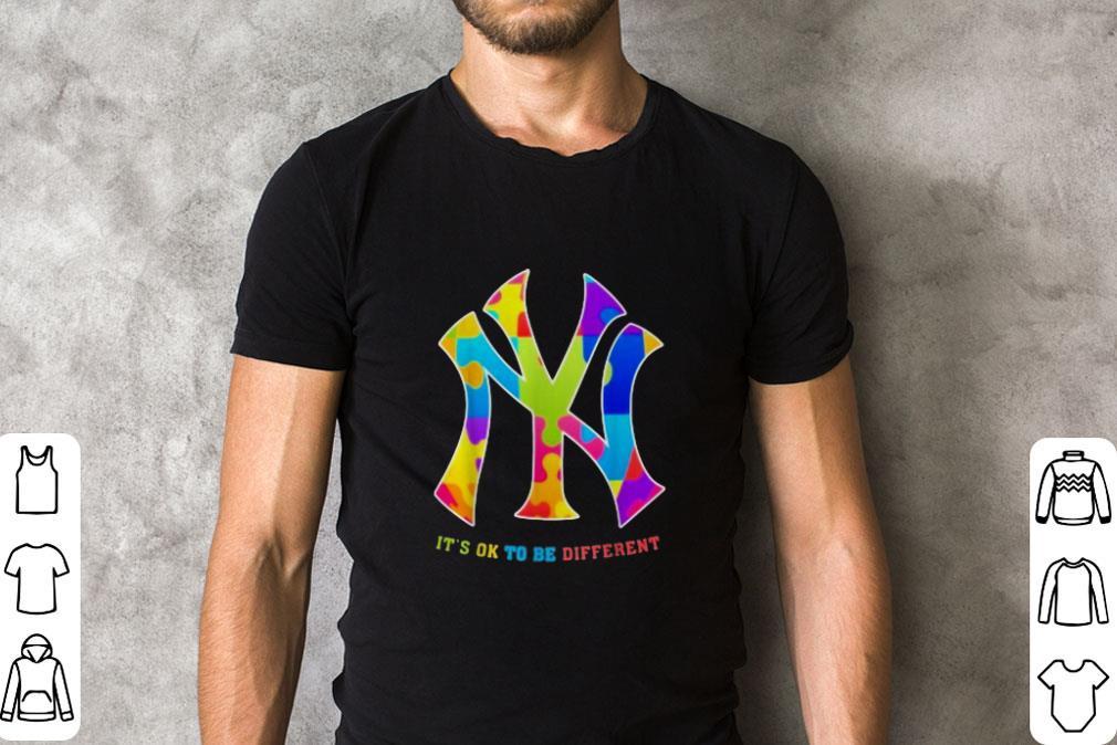 Premium Autism New York Yankees It S Ok To Be Different Shirt 2 1.jpg