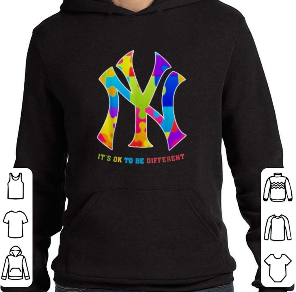 Premium Autism New York Yankees It's Ok To Be Different shirt